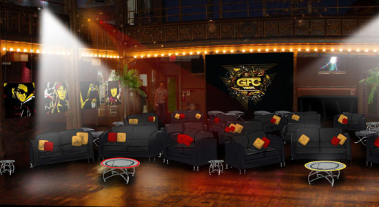 Miller Genuine Draft: Bar Mock-up for event in NYC