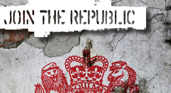 Visual concepts for clothing label Republic